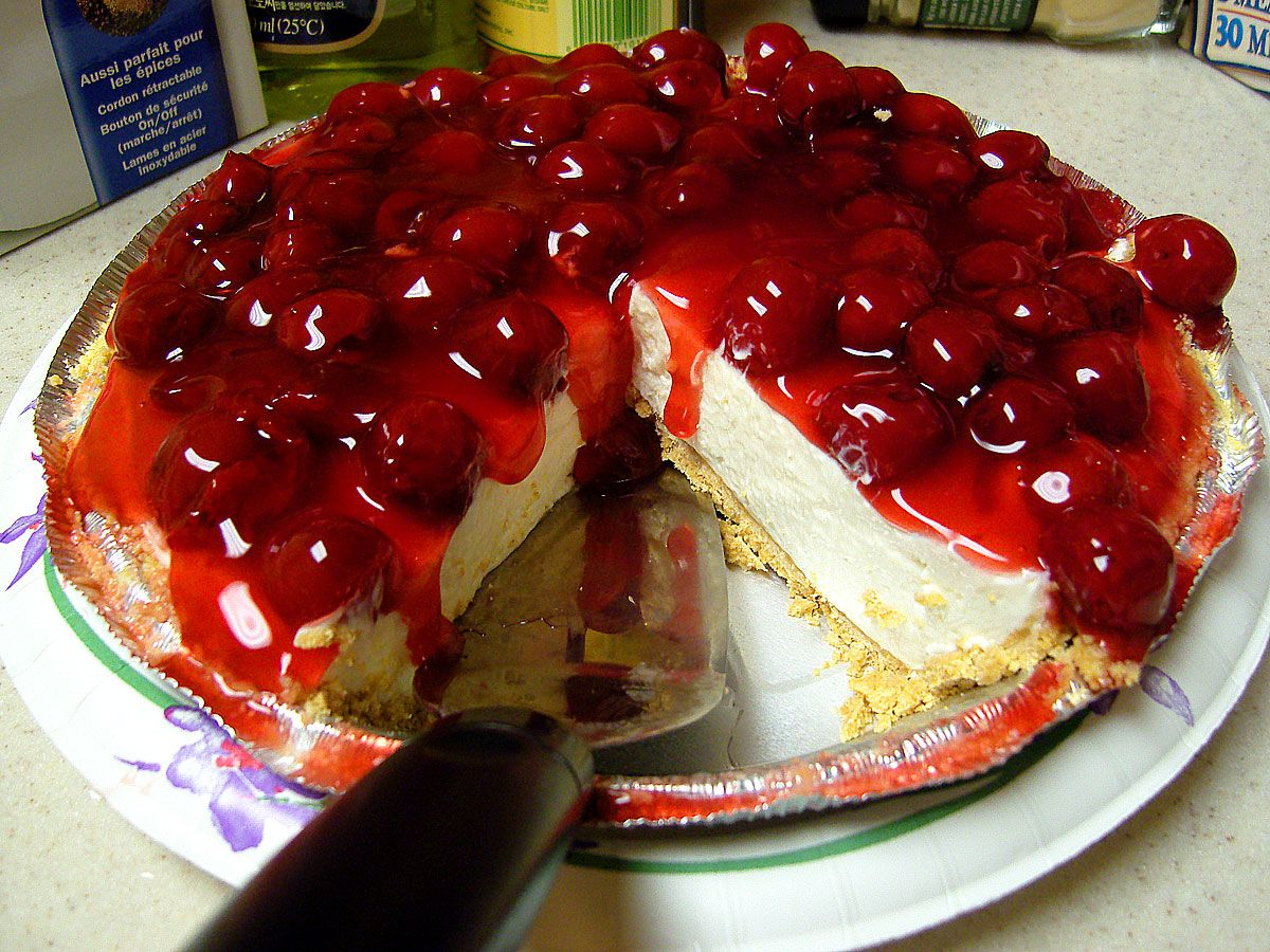 french style cherries cherry cheesecake
